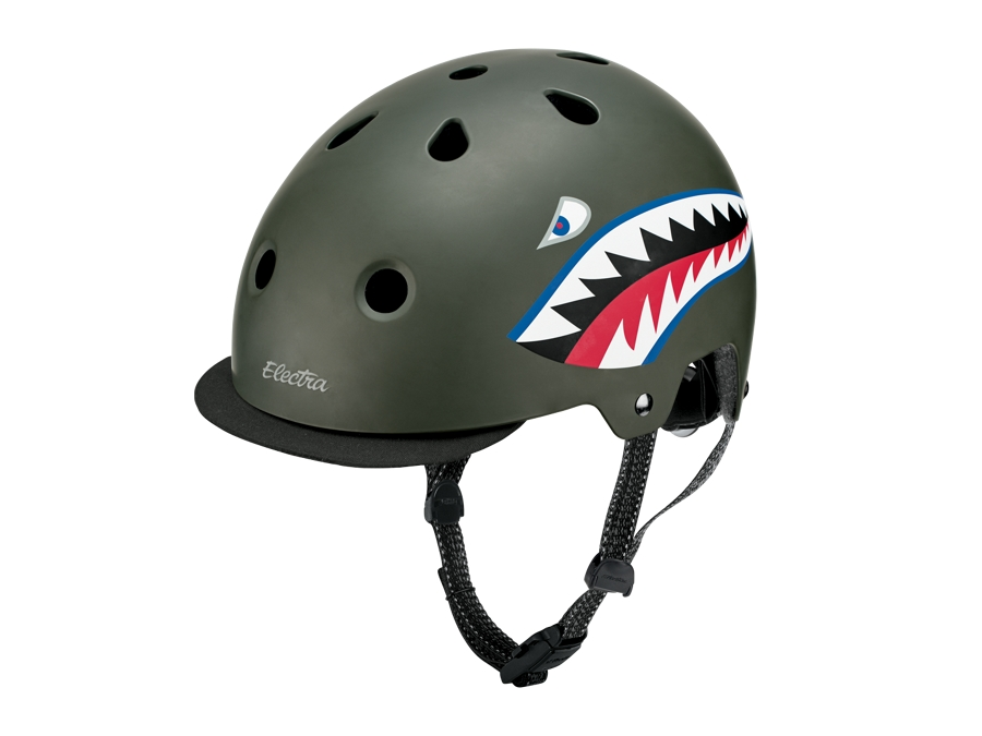 Electra Helmet Lifestyle Lux Tigershark Small Green CE
