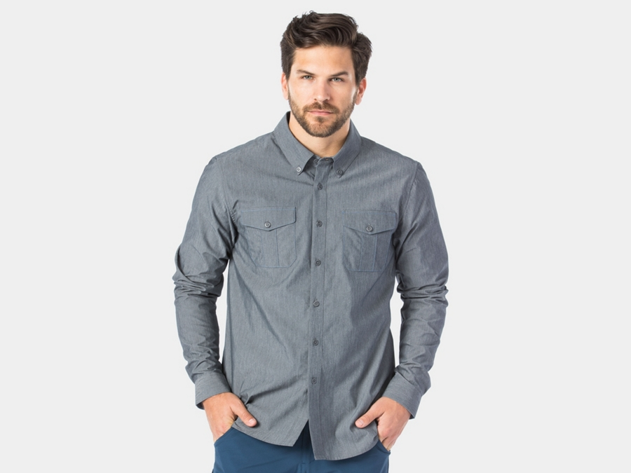 Bontrager Shirt Adventure Ride Small Chambray Grey
